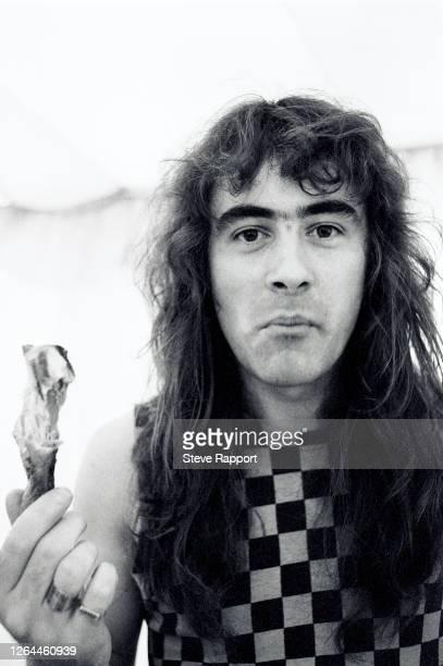 Steve Harris of Iron Maiden, Reading Festival, 8/29/82.