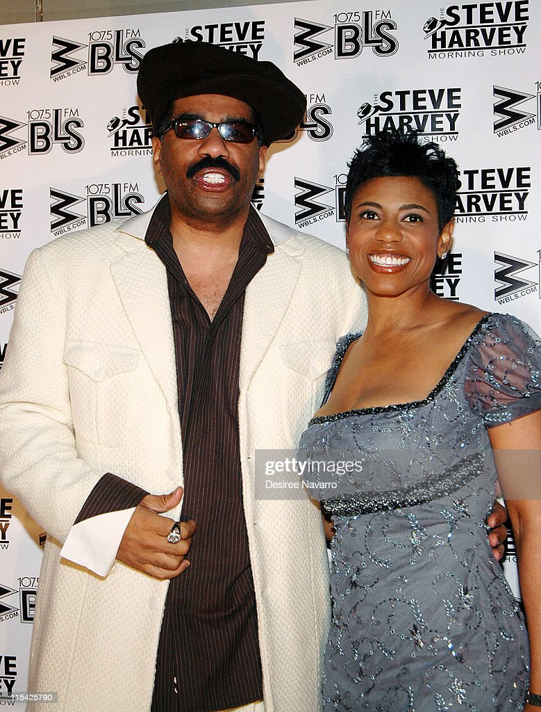 Steve Harvey and Jacque Reid during 'Don't Trip...He Ain't Through With Me Yet' New York Premiere at Magic Johnson Harlem Theate in New York City, New York, United States.