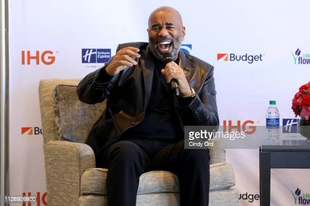 Steve Harvey announces his new business venture SteveHarveyDealscom at Atlanta Crowne Plaza Hotel on February 02 2019 in Atlanta Georgia