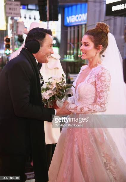 Steve Harvey attends as Keven Undergaro and Maria Menounos have their wedding ceremony during Maria Menounos and Steve Harvey Live from Times Square...