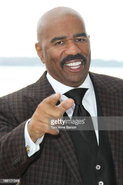 Steve Harvey attends Steve Harvey Show' Photocall during the 50th MIPTV on April 8 2013 in Cannes France