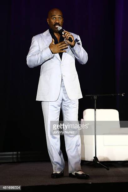 Steve Harvey attends the 2014 Essence Music Festival on July 4 2014 in New Orleans Louisiana