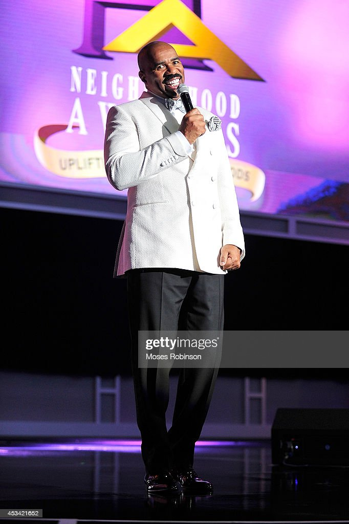 Steve Harvey attends the 2014 Ford Neighborhood Awards Hosted By Steve Harvey at the Phillips Arena on August 9, 2014 in Atlanta, Georgia.