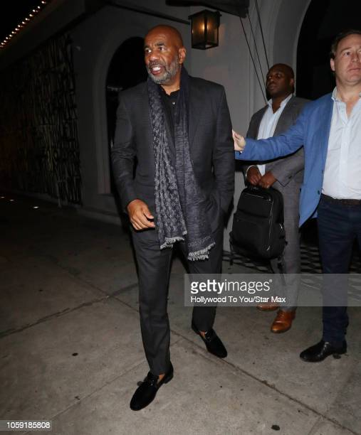 Steve Harvey is seen on November 7 2018 in Los Angeles CA