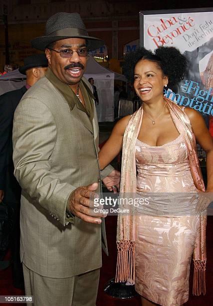 Steve Harvey Victoria Rowell during 'The Fighting Temptations' Premiere at Mann's Chinese Theatre in Hollywood California United States