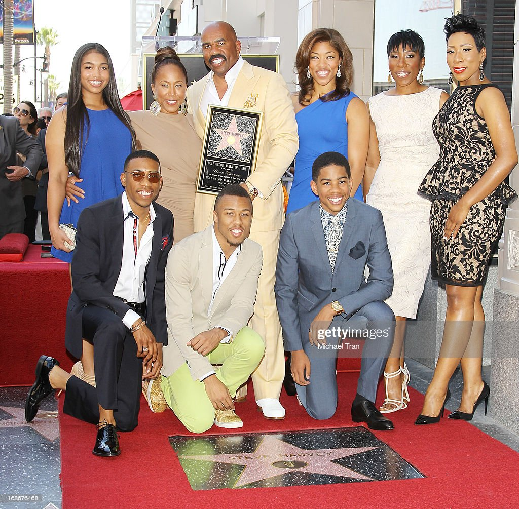 Steve Harvey with his family attend the ceremony honoring him with a Star on The Hollywood Walk of Fame held on May 13, 2013 in Hollywood, California.