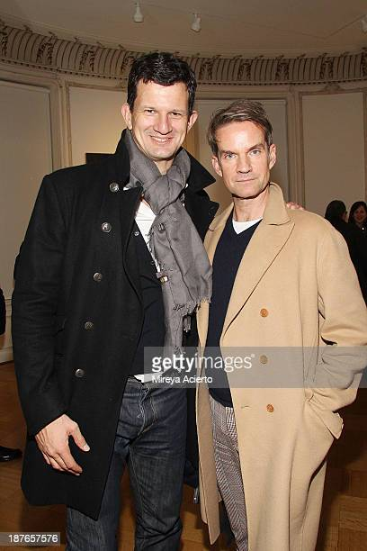Steve Hasker and Alexander Werz attend the Clare Rojas Artist Reception presented by Vladimir Restoin Roitfeld on November 9 2013 in New York City