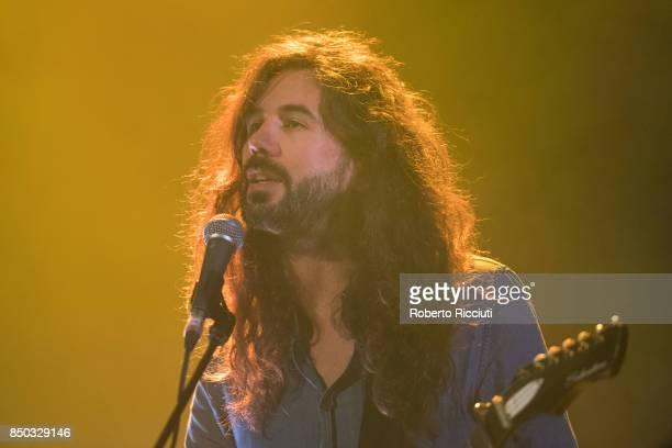 Steve Hassett of Australian indie folk music duo Luluc performs live on stage at Usher Hall on September 20 2017 in Edinburgh Scotland