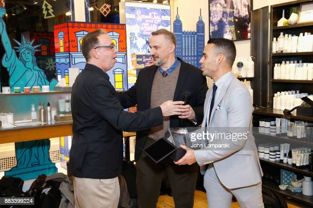 Steve Herrick accepts an award presented by Karl Siciliano and Alex Roque during The Bea Arthur Residence Building dedication on November 30, 2017 in...
