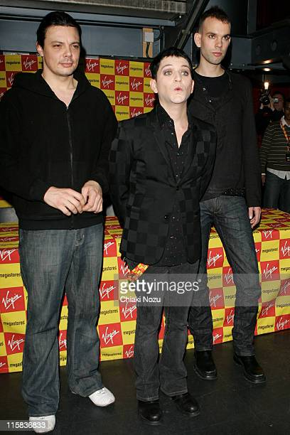 Steve Hewitt Brian Molko and Stefan Olsdal of Placebo