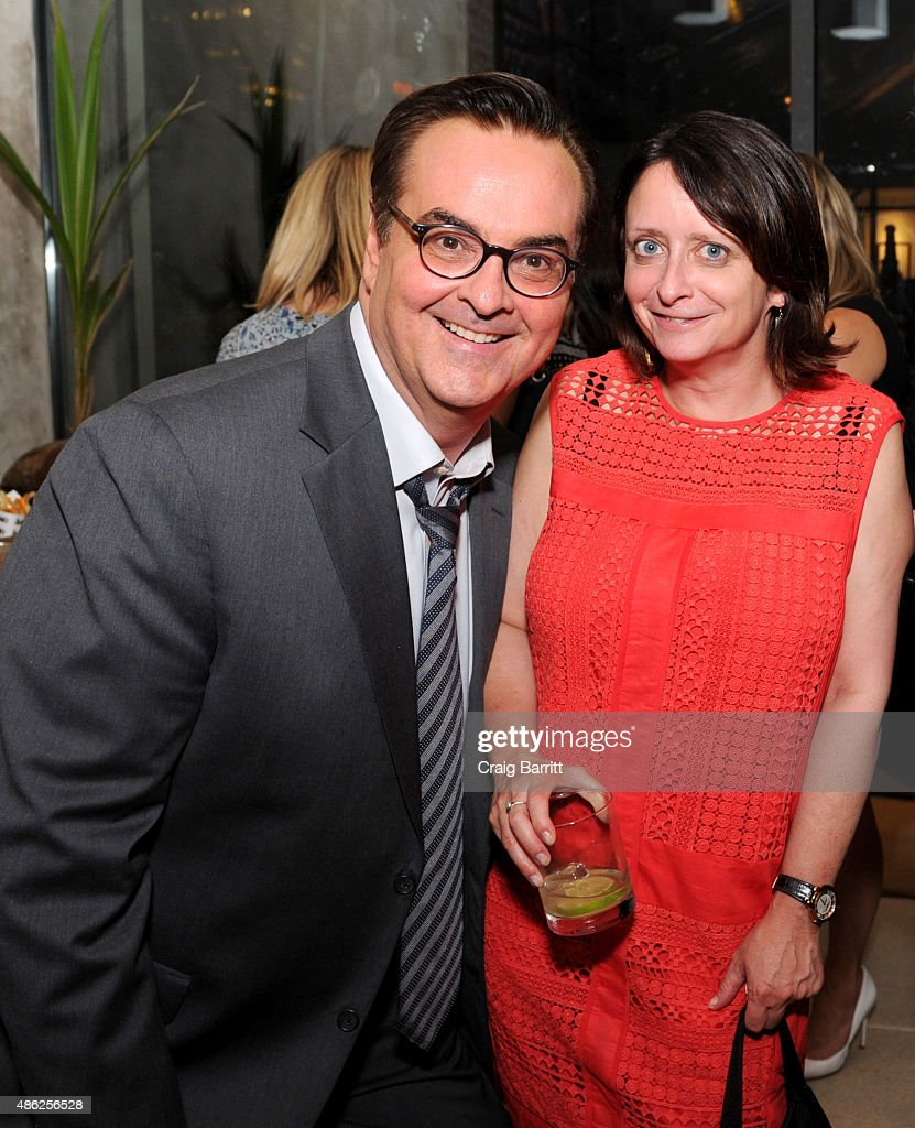 Steve Higgins and Rachel Dratch attend 'The Awesomes' Season 3 Premiere Party & Screening at Microsoft Lounge on September 2, 2015 in New York City.