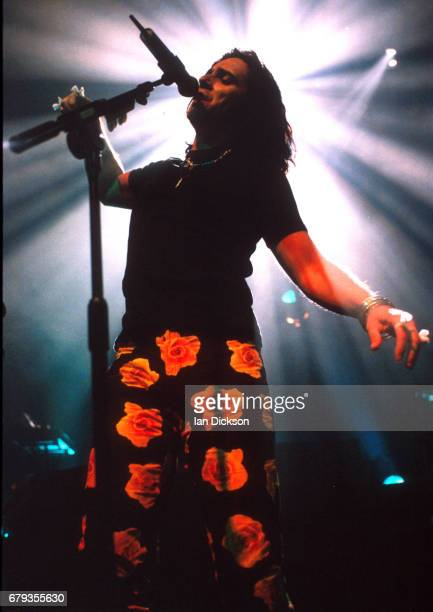 Steve Hogarth of Marillion performing on stage at Shepherds Bush Empire London 12 May 1997
