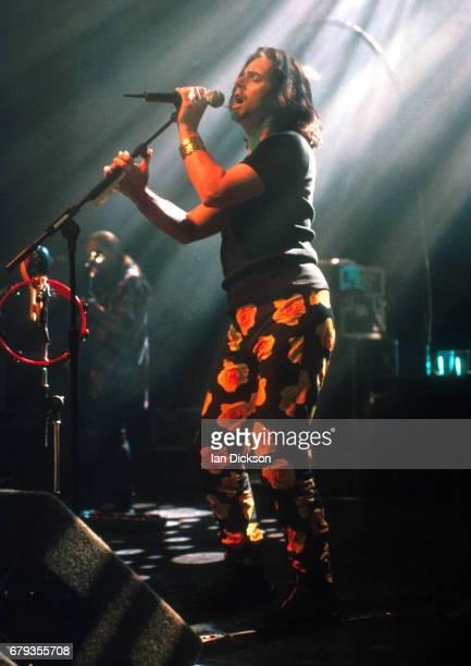 Steve Hogarth of Marillion performing on stage at Shepherds Bush Empire London 12 May 1997