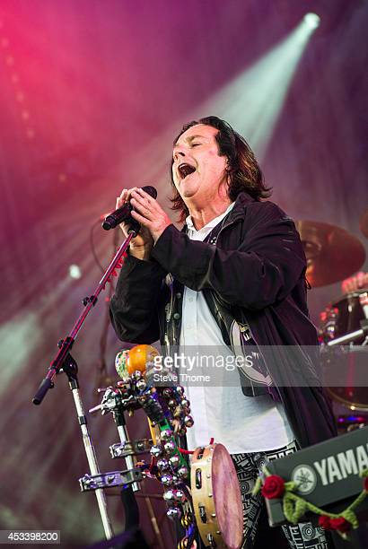 Steve Hogarth of Marillion performs on stage at Cropredy festival at Cropredy on August 9 2014 in Banbury United Kingdom