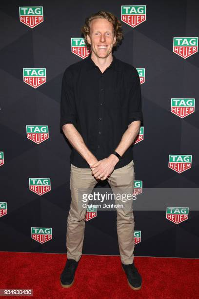 Steve Hooker arrives at the TAG Heuer Australia Grand Prix Party at Luminare on March 20 2018 in Melbourne Australia