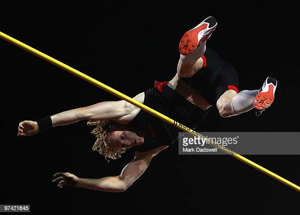 Steve Hooker of Australia competes in the Mens Pole Vault during the IAAF Melbourne Track Classic at Olympic Park on March 4 2010 in Melbourne...