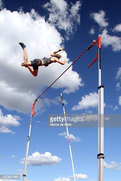 Steve Hooker of Western Australia competes in the Men Pole Vault event during the Adelaide Track Classic on January 28 2012 in Adelaide Australia
