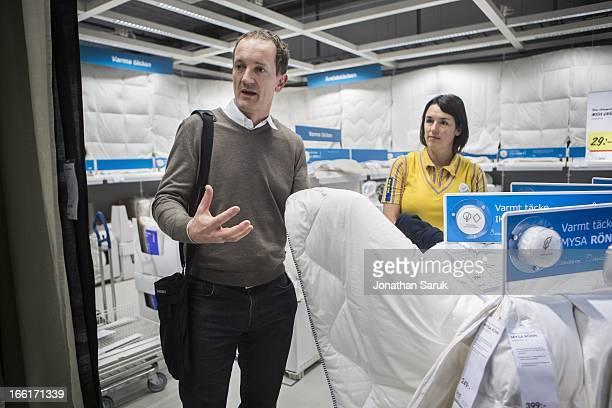 Steve Howard Chief Sustainability Officer for the IKEA Group during an tour at the IKEA store in Malmo Sweden on Monday January 21 2013 The privately...