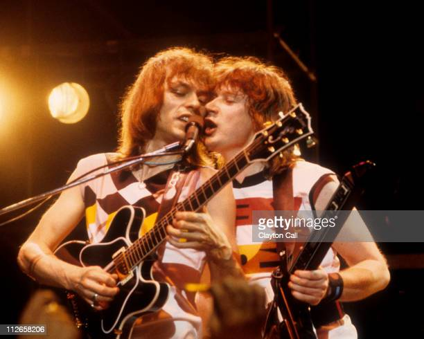 Steve Howe and Geoff Downes perform with Asia at the Warfield Theater in San Francisco on May 22 1982