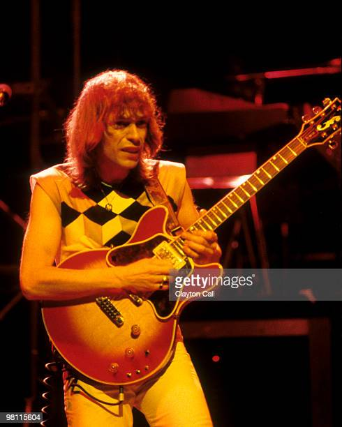 Steve Howe formerly of Yes performing with Asia at the Warfield Theater in San Francisco on May 22 1982 He plays a customised Gibson ES345 guitar