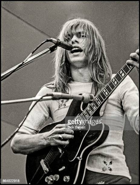 Steve Howe of Yes performs on stage at Crystal Palace Garden Party London 2nd September 1972
