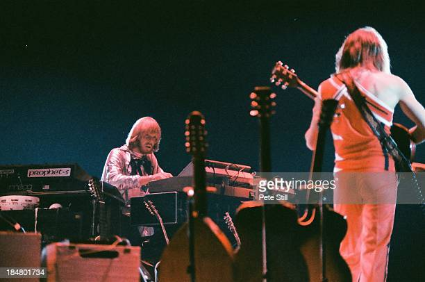 Steve Howe of Yes performs on stage at Wembley Arena on October 28th 1978 in London England