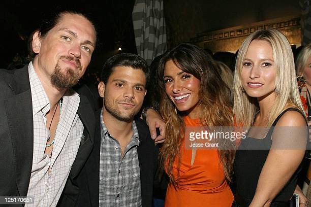 Steve Howey Jerry Ferrara Sarah Shahi and Alexandra Blodgett attend the Los Angeles Confidential and The Art of Elysium Celebration of The 2011 Emmys...
