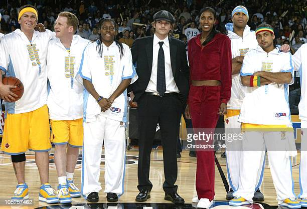 Steve Howey Michael Rapaport Nikki Teasley Ashton Kutcher Lisa Leslie Richard Jefferson and Sean Paul