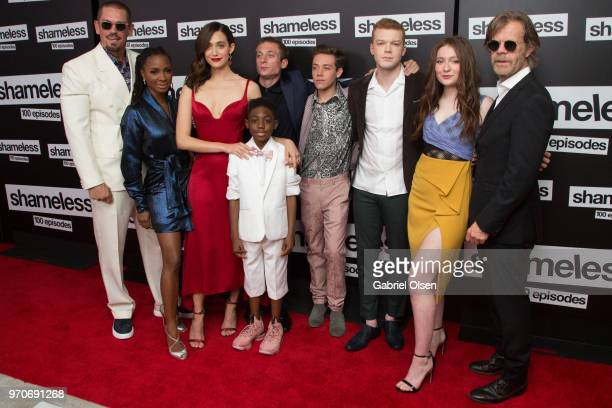 Steve Howey Shanola Hampton Emmy Rossum Jeremy Allen White Christian Isaiah Ethan Cutkosky Cameron Monaghan Emma Kenney and William H Macy arrive for...