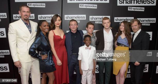 Steve Howey Shanola Hampton Emmy Rossum Jeremy Allen White Christian Isaiah Ethan Cutkowsky Cameron Monaghan Emma Kenney and William H Macy attend...