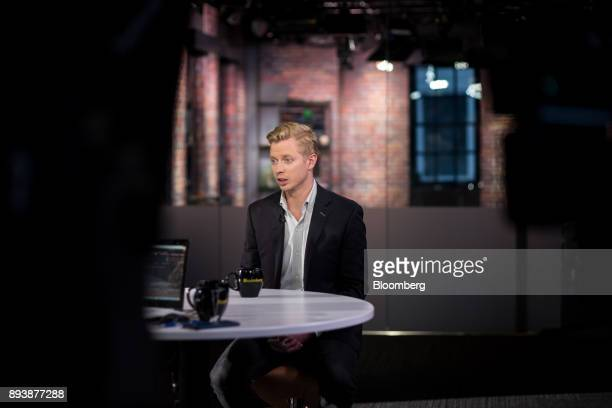 Steve Huffman cofounder and chief executive officer of Reddit Inc speaks during a Bloomberg Technology television interview in San Francisco...