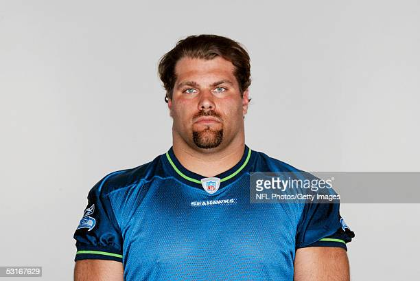 Steve Hutchinson of the Seattle Seahawks poses for his 2005 NFL headshot at photo day in Seattle Washington