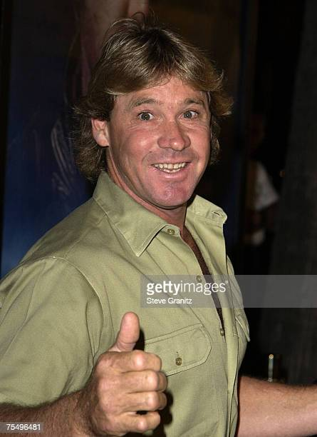 Steve Irwin at the Academy Theatre in Hollywood, California