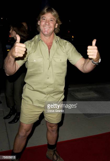 Steve Irwin at the Academy Theatre in Universal City, California