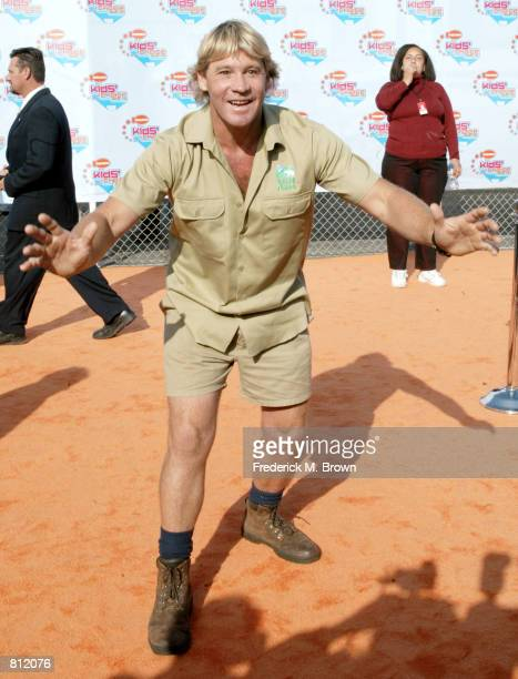 "Steve Irwin ""Crock Man"" attends the Nickelodeon's 15th Annual Kids'' Choice Awards April 20, 2002 in Santa Monica, CA. Kids cast more than 17 million..."