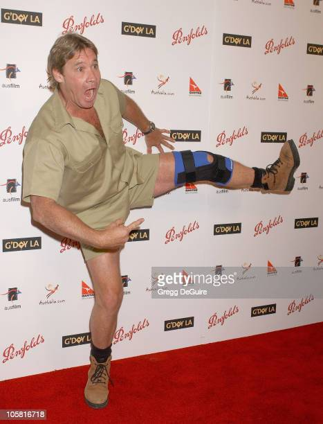 Steve Irwin during G'Day LA: Australia Week 2006 - Penfolds Icon Gala Dinner - Arrivals in Los Angelees, California, United States.