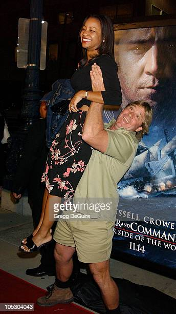 """Steve Irwin during """"Master & Commander: The Far Side of the World"""" - Los Angeles Premiere at Academy Theatre in Beverly Hills, California, United..."""