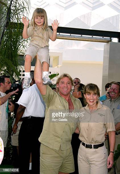 Steve Irwin, Terri Irwin, and daughter during 'The Crocodile Hunter: Collision Course' Premiere at Arclight Cinerama Dome in Hollywood, California,...