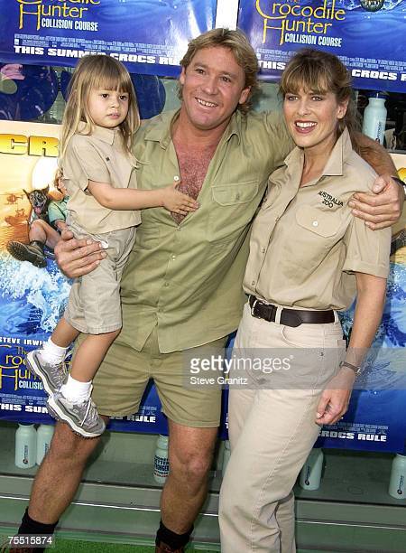 Steve Irwin Terri Irwin daughter Bindi Irwin at the Arclight Cinerama Dome in Hollywood California