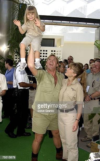 Steve Irwin, Terri Irwin & daughter Bindi Irwin at the Arclight Cinerama Dome in Hollywood, California