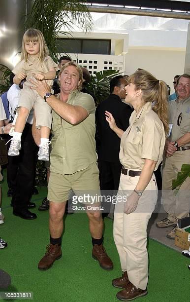 "Steve Irwin, Terri Irwin & daughter Bindi Irwin during ""The Crocodile Hunter: Collision Course"" Premiere at Arclight Cinerama Dome in Hollywood,..."