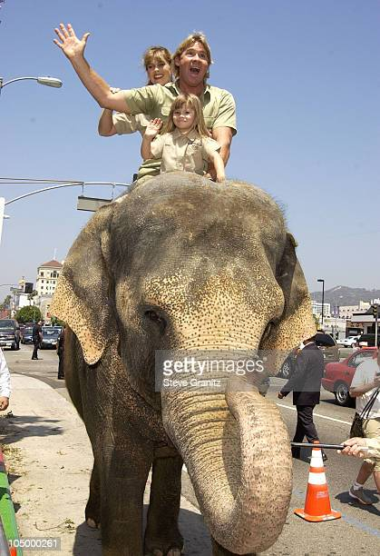 "Steve Irwin, Terri Irwin & daughter during ""The Crocodile Hunter: Collision Course"" Premiere at Arclight Cinerama Dome in Hollywood, California,..."