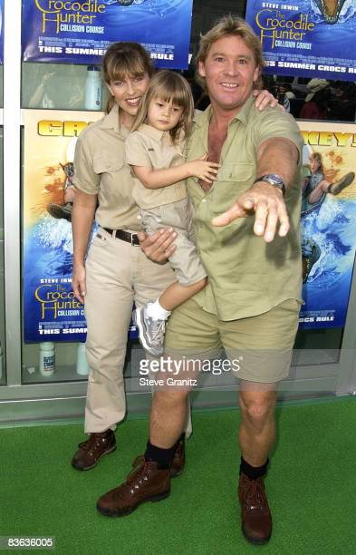 Steve Irwin, Terri Irwin & daughter