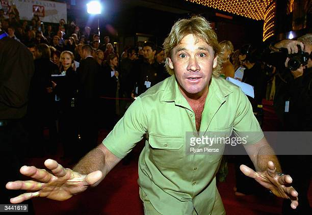Steve Irwin 'The Crocodile Hunter' attends the 46th Annual TV Week Logie Awards at the Crown Entertainment Complex April 18, 2004 in Melbourne,...