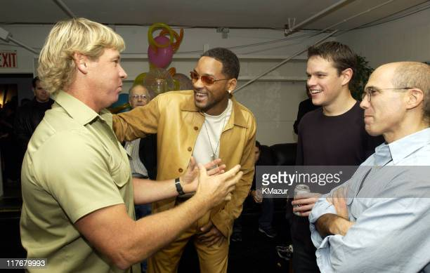 Steve Irwin, Will Smith, Matt Damon and Jeffrey Katzenberg