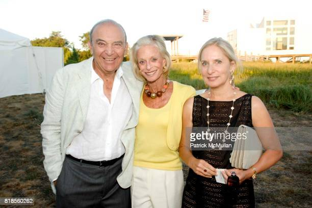 Steve Jacobson Linda Lindenbaum and Susan Jacobson attend GUILD HALL SUMMER GALA CELEBRATING THE OPENING OF THE BARBARA KRUGER EXHIBITION at the...