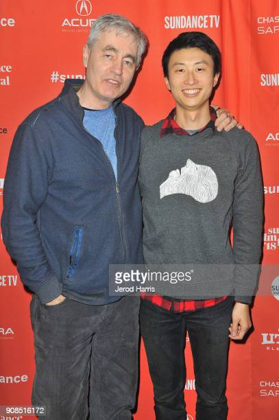 Steve James and director Bing Liu attend the Minding The Gap Premiere during the 2018 Sundance Film Festival at Egyptian Theatre on January 21 2018...