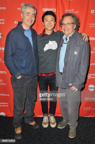 Steve James director Bing Liu and executive producer Gordon Quinn attend the Minding The Gap Premiere during the 2018 Sundance Film Festival at...