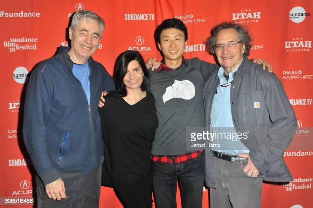 Steve James executive producer Betsey Steinberg director Bing Liu and executive producer Gordon Quinn attend the Minding The Gap Premiere during the...