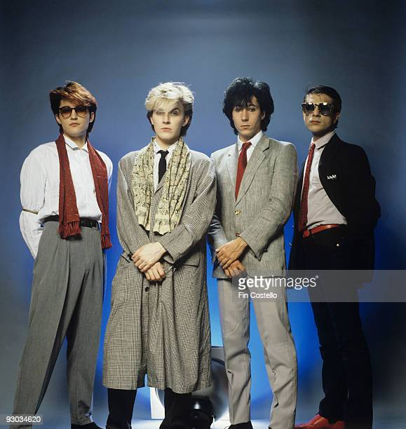 Steve Jansen David Sylvian Richard Barbieri and Mick Karn of Japan in London England in 1982